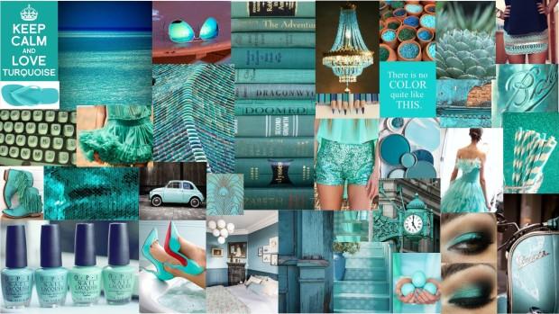 mood board turquoise